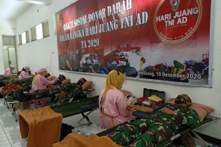 Donor  Darah Kodam IV/ Diponegoro Wujud Kepedulian dan Kesetiakawanan Sosial