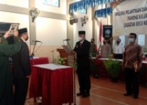 Pemerintah Kalurahan Sidomulyo Bambanglipuro Bantul Ramadan 1442 H Lantik Ulu Ulu Baru