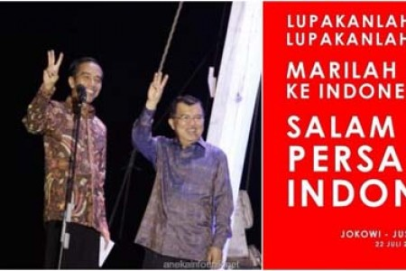 Lupakan nomor 1 dan 2 mari kembali ke persatuan Indonesia