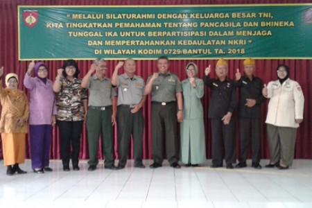 Silaturahmi  Komsos KBT Dim 0729/Bantul: Waspadai  PKI dan  Narkoba