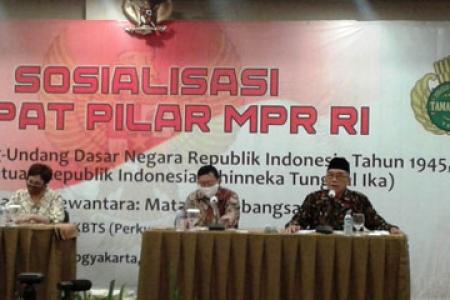 MPR RI  Perkumpulan  Keluarga Besar Tamansiswa Gelar Sosialisasi Empat Pilar