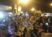 Malam idul Fitri 1439 H/2018 remaja masjid kumandangkan takbir keliling kota