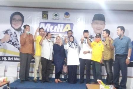 Paslon Muslimatun - Amin Purnama  Resmikan Rumah Pemenangan