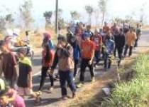 Jalan sehat Hut RI 70 Desa Ngoro-oro…