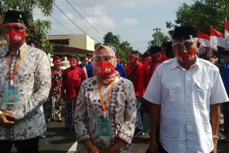 Paslon Bupati- Wakil Bupati Sleman Kustini-Danang Maharsa Ikuti Proses Pendaftaran