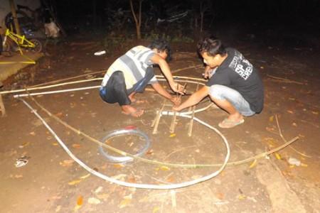Pokdarwis Jurug Taman Sari Menggeliat' Tahun 2018  Percantilk Kawasan Wisata  dengan  logo love