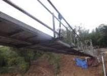 inilah jembatan gantung hutan wangama…