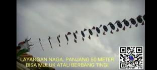 Hiburan Ngundho Layangan  Naga Panjang  50  Meter Mengasyikan Ora Ngambah Lemah