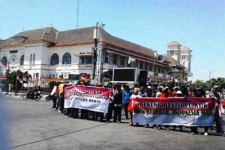 Aksi Mendukung Revisi UU KPK Di Jogja Marak
