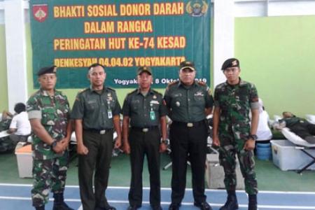 Baksos HUT Ke -74 Kesehatan Angkatan Darat di Gelar DI Yogyakarta