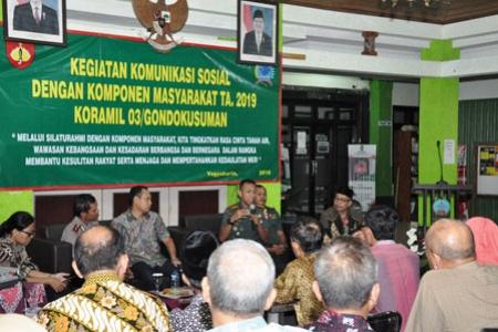 Dandim 0734/Yogyakarta Berharap Adanya Sinergitas Semua Elemen Masyarakat