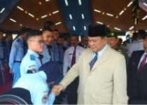 Menhan Prabowo Hadiri Sertijab…