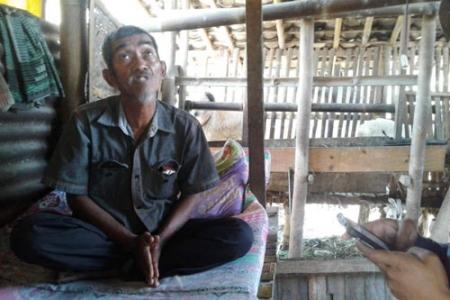 Zaman Kaya Gini  Sarmiskam Warga Jambidan Bantul Tinggal di Gubuk Reot Kandang Kambing
