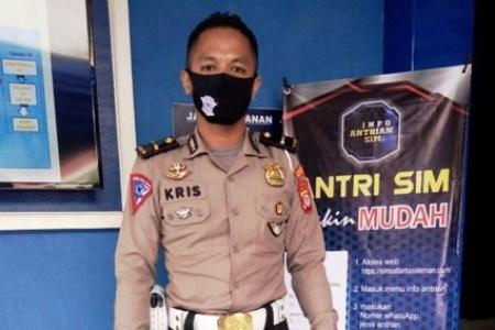 HUT Bhayangkara Ke- 74 Pemohon SIM A dan C  Lahir 1 Juli Polres Sleman Berikan Apresiasi