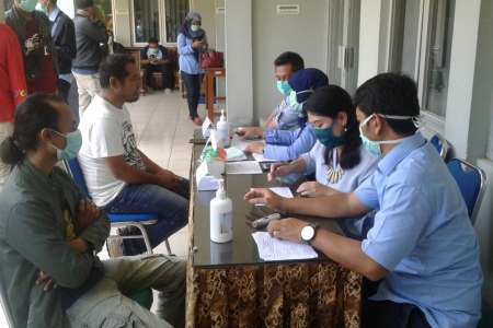 Wartawan Bantul Ikuti Scraning Covid 19 Dinkes