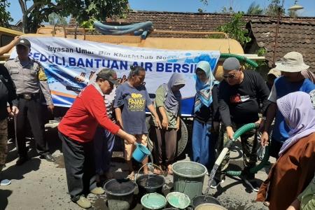Kemarau Panjang 2019 Islamic Centre Umar Bin Khothob Kirim Air Bersih Ke Gunungkidul