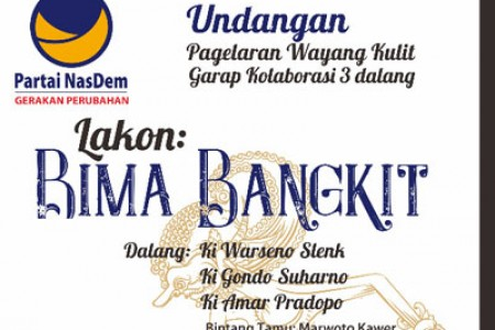 H.Subardi Nasdem Nanggap 3 Dalang  Manggung Bareng Di Lapangan Wiladeg Gunungkidul  8/12/2018