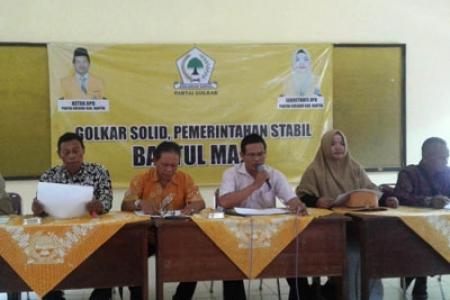 Golkar Bantul  akan Kirim Ke DPP 3 -5  Nama Bacabup Dan Wabup di Pilkada 2020