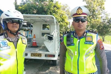 Tekan Angka Kecelakaan, Unit Lantas Polsek Sentolo  Kulonprogo Gelar Razia