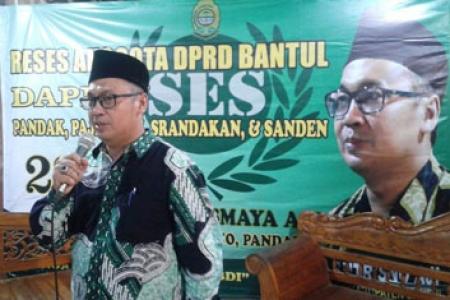 Eko  S utrisno  DPRD, Bantul, Siap Jembatani  Menampung Aspirasi  Pembangunan Fisik dan Non Fisik
